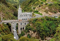Pilgrimage church Las Lajas near Ipiales, Columbia, South America