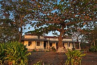 Architecture in the ghost town of Ibo Island, Quirimbas islands, Mozambique, Africa
