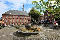Center of Nideggen with remains of the castle Nideggen, North Rhine-Westphalia, Germany