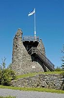 Castle ruin, Eversberg, Meschede, Sauerland, North Rhine-Westphalia, NRW, Germany