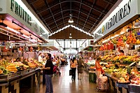 Mercado de la Concepcion, market hall, Barcelona, Catalonia, Spain