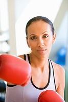 Woman Boxing At Gym