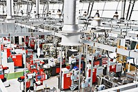 High angle view of factory floor