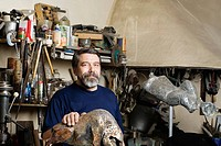 Sculptor in His Studio