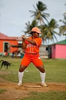 Tasbapauni, Nicaragua, Woman playing softball