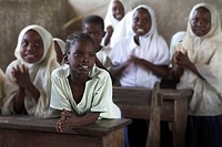 Zanzibar, Tanzania, Children in classroom