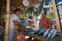 Market on the island Negros, Philippines
