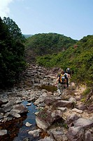 Hiking Along the River and Rocks, Hong Kong