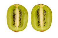 Cross section of a kiwi fruit