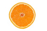 Close_up of a cross section of an orange