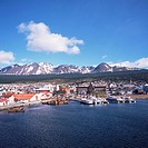 The southernmost port of Ushuaia, Argentina, South America