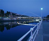 Campo Volantin Footbridge, Bilbao, Spain. Architect: Santiago CALATRAVA. Campo Volantin Footbridge, Bilbao, completed 1990_1997. Also known as Zubizur...