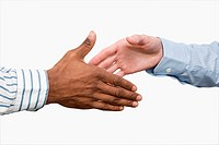 Close_up of two businessmen's shaking hands