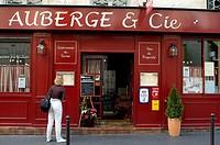 Restaurant, Montmartre, Paris, Ile-de-France, France