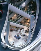 Selfridges Store, Birmingham, England. 2003 _ View from top of atrium. Architect: Future Systems