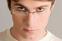 Portrait of a young man wearing eyeglasses (thumbnail)