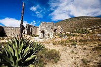 Old ruins of a building, Real De Catorce, San Luis Potosi, Mexico (thumbnail)