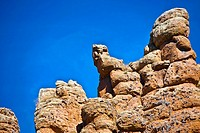 Low angle view of rock formations, Sierra De Organos, Sombrerete, Zacatecas State, Mexico