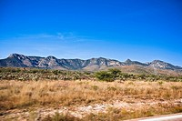 Mountain range on a landscape, Sombrerete, Zacatecas State, Mexico