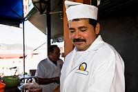 Close_up of a chef, Morelia, Michoacan State, Mexico