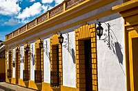 Lanterns mounted on the wall of a building, San Cristobal De Las Casas, Chiapas, Mexico