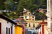 High angle view of buildings in a city, San Cristobal De Las Casas, Chiapas, Mexico (thumbnail)