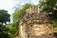 Old ruins of a building, Tonina, Ocosingo, Chiapas, Mexico