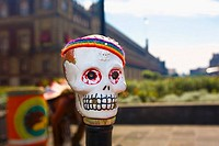 Close-up of a skull mask, Zocalo, Mexico City, Mexico (thumbnail)