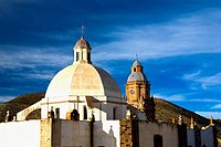 Low angle view of a cathedral, Purisima Concepcion Temple, Real De Catorce, San Luis Potosi, Mexico (thumbnail)