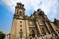 Low angle view of a cathedral, Metropolitan Cathedral, Mexico City, Mexico