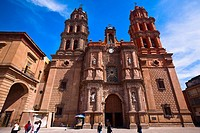 Low angle view of a cathedral, San Luis Potosi, Mexico