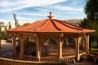 Gazebo in a garden, General Enrique Estrada, Zacatecas State, Mexico