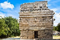 Old ruins of a building, Nun's Building, Chichen Itza, Yucatan, Mexico