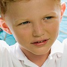 Close_up of a boy thinking