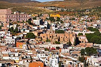 Panoramic view of buildings in a city, Zacatecas, Mexico