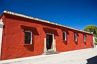 Facade of a house, Oaxaca, Oaxaca State, Mexico