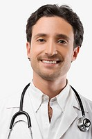 Portrait of a male doctor smiling (thumbnail)