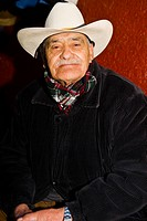 Portrait of a senior man smiling, Zacatecas State, Mexico