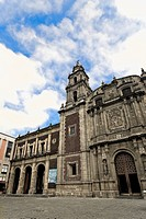 Low angle view of a church, Iglesia De Santo Domingo, Oaxaca, Mexico