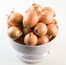 Onions in a kitchen scale
