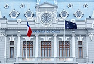 Aduana Nacional building, Plaza Sotomayor, Valparaiso, UNESCO World Heritage Site, Chile, South America