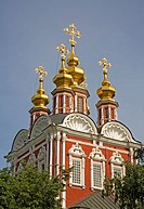 New Maiden Monastery, Tower of the Gate Church, Moscow, Russia, East europe, Europe