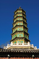 A seven tier pagoda in Fragrant Hills Park in the Western Hills, Beijing, China, Asia