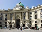 Michaeler square, Hofburg, Vienna, Austria, Wien