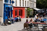 Outdoor Cafe, Rue Barres, Marais Quarter, Paris, France, Europe