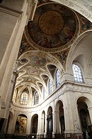 Interior view of Church of Saint Roch on Rue Saint-Honore, Paris. France