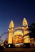 Luna Park in evening light.  Sydney, Australia