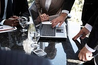 Businesspeople with laptop computer
