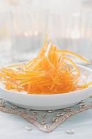 Candied orange zest Christmas