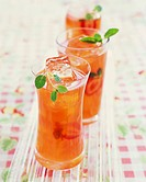 Glasses of Strawberry Lemonade